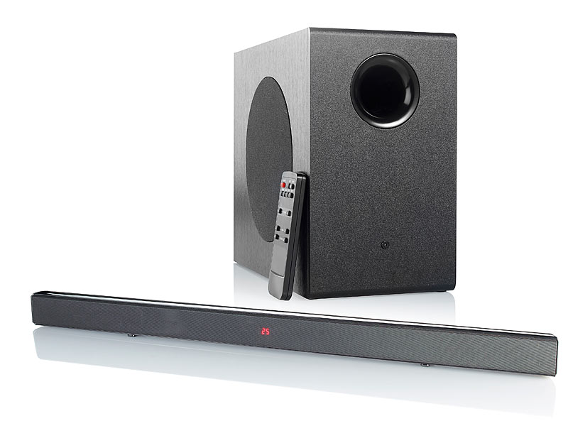 ; 2.1-Soundbars mit Bluetooth