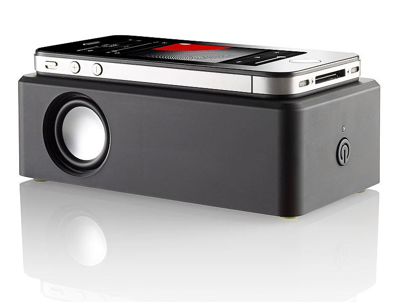 Gut bekannt auvisio Induktions-Lautsprecher für Smartphones und mobile Audiogeräte YJ43