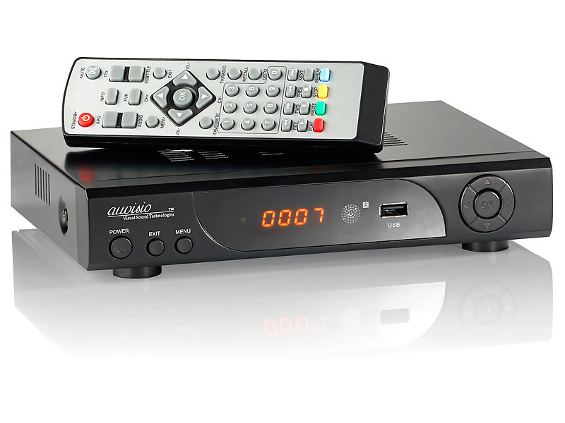 auvisio HD-Sat-Receiver + FullHD-Player & HDD/Festplatten-Schacht; HDMI Media-Player HDMI Media-Player