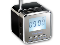 "auvisio Mini-MP3-Station ""MPS-550.cube"" mit integriertem Radio; MP3-, Video- & Media-Player, radio MP3-, Video- & Media-Player, radio MP3-, Video- & Media-Player, radio"