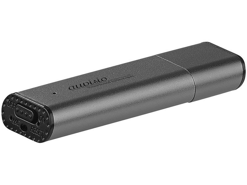 8GB MP3-Player geräuschaktivierte Aufnahme auvisio Digitaler Voice-Recorder