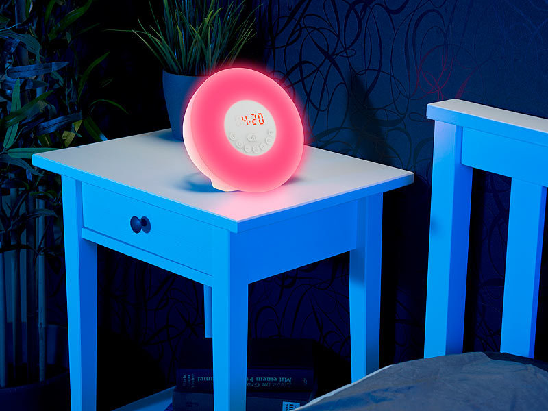 auvisio wake up licht radio wecker m sonnenaufgang versandr ckl ufer. Black Bedroom Furniture Sets. Home Design Ideas