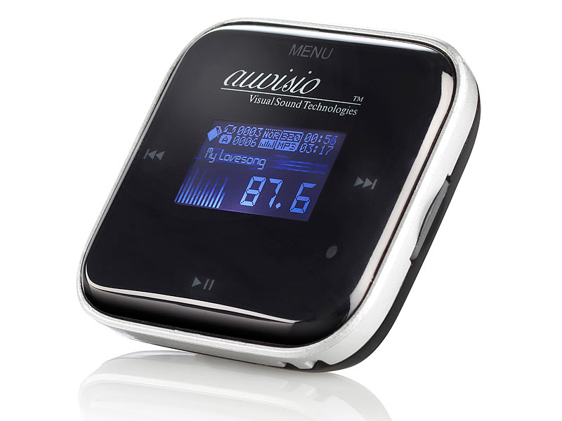 auvisio 3in1 mp3 player lcd mit fm transmitter radio. Black Bedroom Furniture Sets. Home Design Ideas