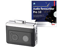 auvisio 2in1-Kassetten-Player zum Digitalisieren mit Audio Restaurator Pro 10