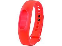 auvisio Wechsel-Armband, rot, zu Fitness-Tracker FT-100.3D