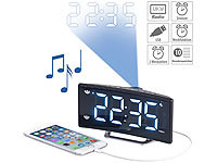 auvisio Projektions-Radiowecker mit Curved-Display, Dual-Alarm & USB-Ladeport; Bluetooth-Radios mit Weckfunktion Bluetooth-Radios mit Weckfunktion Bluetooth-Radios mit Weckfunktion Bluetooth-Radios mit Weckfunktion