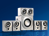 "auvisio 5.1 Surround-Sound-System ""Silver Power"""