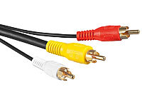 auvisio Composite-Video-Kabel 3x Cinch-Stecker auf 3x Cinch-Stecker, 1,5 m