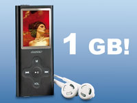"auvisio Slim-MP3 & Video-Player 1GB ""SlimBeat"""