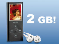 "auvisio Slim-MP3 & Video-Player 2GB ""SlimBeat"""