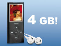 "auvisio 4 GB MP3 & Video-Player ""SlimBeat"""