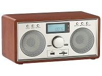 "auvisio Retro Radio mit USB/SD Slot ""Wood"""