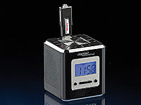 "auvisio USB-MP3-Wecker ""Black Magic Cube"""