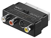 auvisio TV-Adapterstecker AV-Cinch & S-Video auf SCART, umschaltbar