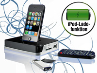 auvisio 2in1 Docking-Station & Mediaplayer für iPod & iPhone