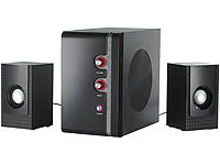 auvisio Aktives 2.1 Premium-Multimedia-Soundsystem MSX-340; Stereo-USB-Lautsprecher, 5.1 Surround-Lautsprecher-Systeme