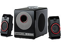 auvisio 2.1 Premium-Multimedia-Soundsystem mit Subwoofer, MP3-Player, 40 Watt