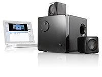 auvisio Aktives 2.1 Multimedia-Soundsystem MSX-370 mit USB-Betrieb; Stereo-USB-Lautsprecher, 5.1 Surround-Lautsprecher-Systeme