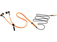 auvisio Zipper-Headset IE-400.zip mit Reißverschluss (orange)