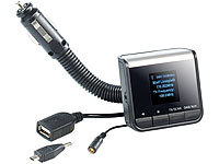 ; FM-Transmitter & Freisprecher mit MP3-Player & USB-Ladeports