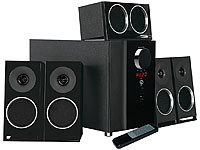 auvisio PCM 5.1-Surround-Soundsystem, optischer Audio-Eingang, 200 Watt