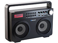 auvisio Ghettoblaster MPS-689.BT mit Bluetooth, Radio und MP3-Player, 20 Watt