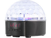 auvisio Mobile Discokugel mit Lautsprecher, Bluetooth, MP3-Player, 20 Watt