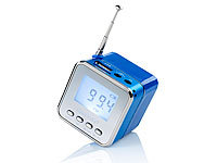 "auvisio Mini-MP3-Station ""MPS-550.cube"" mit Radio, blau (refurbished)"
