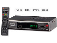 auvisio DVB-T2-Receiver H.265/HEVC,Full-HD-TV,HDMI &SCART,LAN,USB(refurbished); HD-Sat-Receiver HD-Sat-Receiver