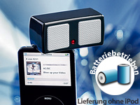 auvisio Mini-Stereo-Lautsprecher aktiv für iPod, iPhone, MP3 & Co.