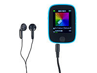 auvisio Clip-On-Multimedia-Player mit 4,6-cm-Farb-Display, für microSD-Karten; In-Ear-Stereo-Headsets mit Bluetooth In-Ear-Stereo-Headsets mit Bluetooth In-Ear-Stereo-Headsets mit Bluetooth