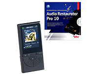auvisio 2in1-Media-Player & Audio-Rekorder mit Audio-Restaurations-Software