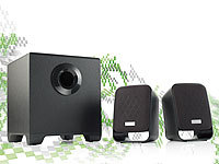 auvisio Aktives 2.1 Multimedia-Soundsystem MSX-210; Stereo-USB-Lautsprecher, 5.1 Surround-Lautsprecher-Systeme