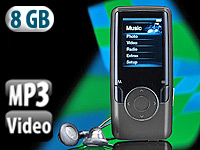 "auvisio MP3 & Video-Player ""DMP-628.s"" mit 8 GB, Radio & Fotoviewer"