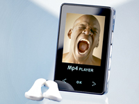 "auvisio 1GB MP3 & Videoplayer ""Sensor-Touch"" mit miniSD-Slot"
