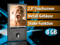 auvisio Touchscreen MP3 & Video-Player 8GB schwarz