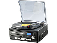auvisio Kompakt-Stereoanlage MHX-550.LP für Schallplatte, CD usw (refurbished); MP3-Soundstations