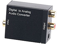 auvisio Audio-Konverter digital zu analog, mit TOSLINK, Koaxial & Stereo-Cinch