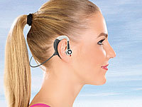 auvisio Kabelloses Headset mit Bluetooth & Fitness-Tracker