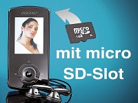 "auvisio MP3 & Video-Player mit 1.8""-TFT & microSD-Slot"