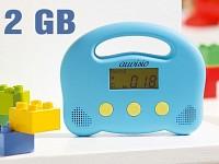 auvisio Kindergerechter MP3-Player inkl. 6 Stunden Hörbuch-Klassiker