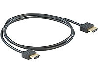 auvisio Ultraflaches HDMI-1.4-Kabel m. vergoldeten Kontakten, Full HD, 3D, 1 m