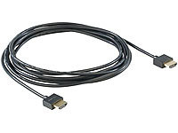 auvisio Ultraflaches HDMI-1.4-Kabel m. vergoldeten Kontakten, Full HD, 3D, 3 m
