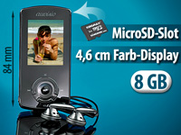 "auvisio MP3 & Video-Player ""DMP-528.i"" mit 8 GB plus microSD-Slot"
