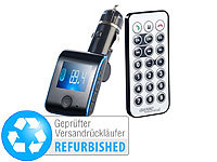 auvisio Bluetooth-Freisprecher / FM-Transmitter FMX-550.BT (Versandrückläufer); 2.1-Soundbars mit Bluetooth, FM-Transmitter & Freisprecher mit MP3-Player & USB-Ladeports 2.1-Soundbars mit Bluetooth, FM-Transmitter & Freisprecher mit MP3-Player & USB-Ladeports