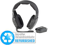 auvisio Kabelloses Gaming-Funk-Headset mit TOSLINK Versandrückläufer; Over-Ear-Headsets mit Bluetooth, MP3-Player & Radio, Kabelloses In-Ear-Stereo-Headsets mit Bluetooth und Lade-Etuis Over-Ear-Headsets mit Bluetooth, MP3-Player & Radio, Kabelloses In-Ear-Stereo-Headsets mit Bluetooth und Lade-Etuis