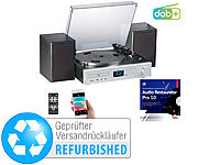 auvisio Plattenspieler/Digitalisierer, DAB+, CD, Bluetooth, MC, USB, MP3, 80 W; USB-Kassettenrecorder USB-Kassettenrecorder