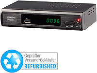 auvisio DVB-T2-Receiver H.265/HEVC, Full-HD-TV, HDMI, USB (Versandrückläufer); HD-Sat-Receiver