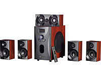 auvisio Home-Theater Surround-Sound-System 5.1, 160 Watt, MP3/Radio, Holzoptik
