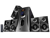 auvisio Home-Theater Surround-Sound-System 5.1, 160 Watt, MP3, Radio, schwarz